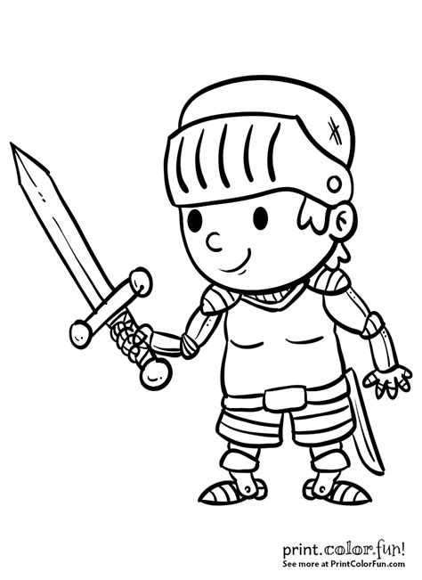 sword disegni da colorare boy with a sword coloring page print