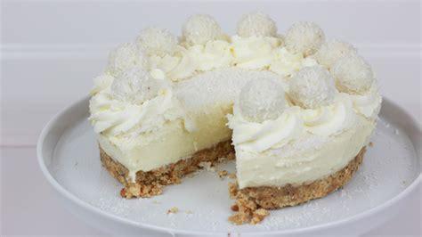 veganer kuchen raffaello torte ohne backen no bake raffaello cheesecake cookbakery chefkoch de