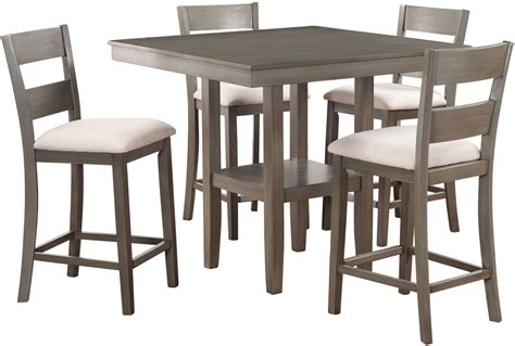 5 dining room sets loft weathered grey 5 counter height dining room set