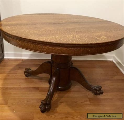 vintage claw foot table antique victorian large oak round dining table with claw