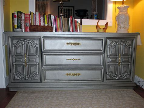paint wood furniture with metallic spray paint paint