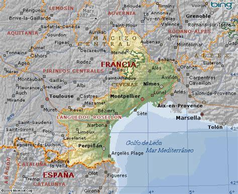 Mapa de Languedoc Roussillon en Francia