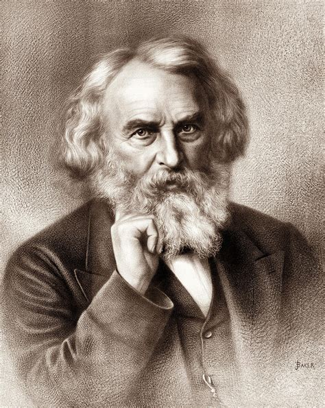 Henry Wadsworth Longfellow - American Poet Drawing by War ...