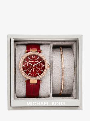 mini parker rose gold tone gift set michael kors