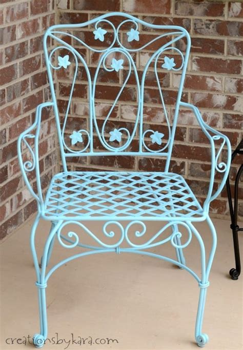 how to transform metal patio furniture