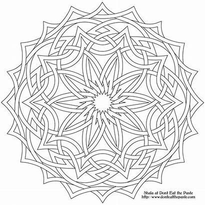 Mandala Coloring Celtic Pages Printable Cross Heart