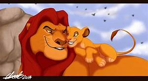 Simba And Mufasa Cuddles by Elbel1000 on DeviantArt