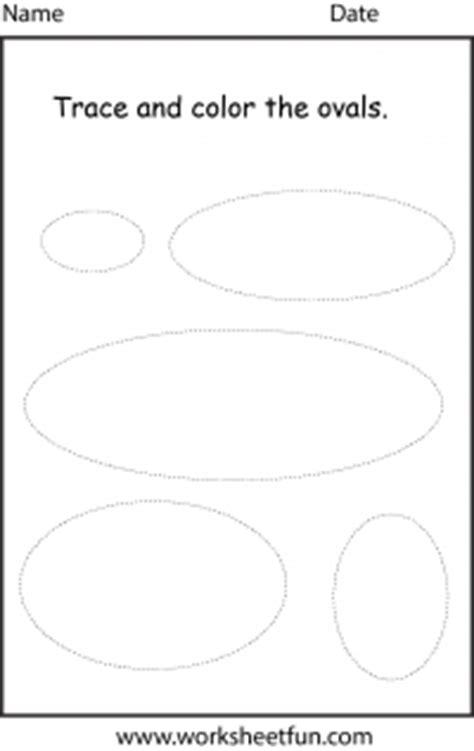 shape oval  worksheet  printable worksheets