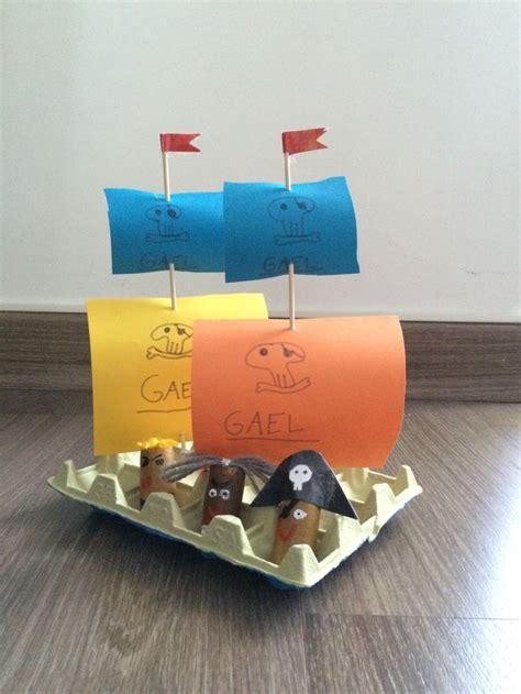 Barco Pirata Reciclado by Barco Pirata Carton Huevos Hecho Por Ines Pirate Egg