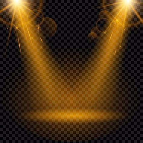 Golden Spotlight Isolated On A Transparent Background ...
