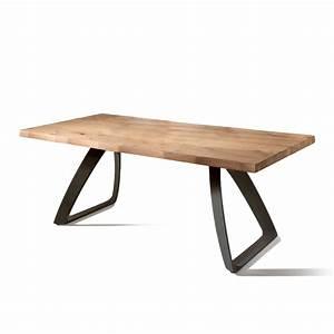 Table Bois Et Noir : table manger extensible travis en bois plaqu de ch ne ~ Dailycaller-alerts.com Idées de Décoration