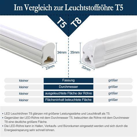 LED Leuchtstoffröhre mit Fassung Leuchtstofflampe komplett