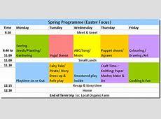 Program Samples — Ulla Beag Preschool, Childcare, After