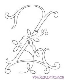 Hand Embroidery Letter Z Monogram