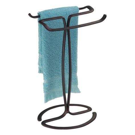 towel holder interdesign axis fingertip towel holder bronze bathroom