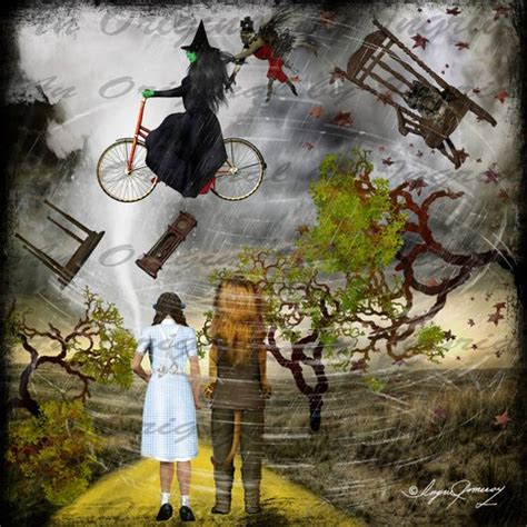 twister wizard of oz odd oz digital collage greeting card suitable for framing