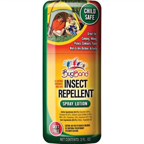 Bugband Insect Repellent Spray 3 Ounce  Deet Freechild