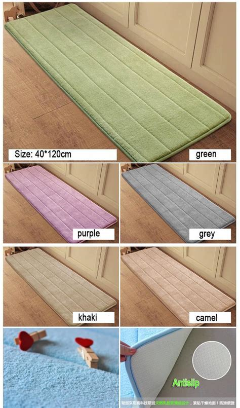 Antislip Velvet Bathroom Door Mat Absorbent Bath Mat Slow