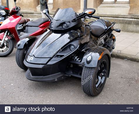 Can-am Spyder, A Three Wheel Motorbike, Oxford, Uk Stock