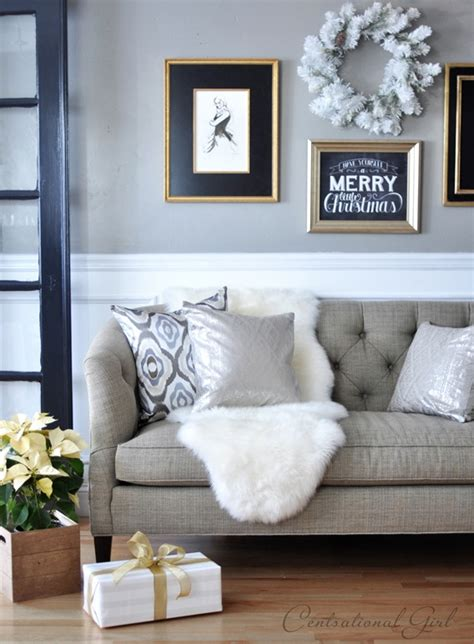 holiday home decor ideas  black white green