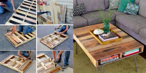 chambre en palette fabriquer une table basse avec une palette des idées