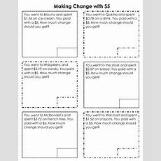 Making Change With $5 By Lydia Leslie  Teachers Pay Teachers
