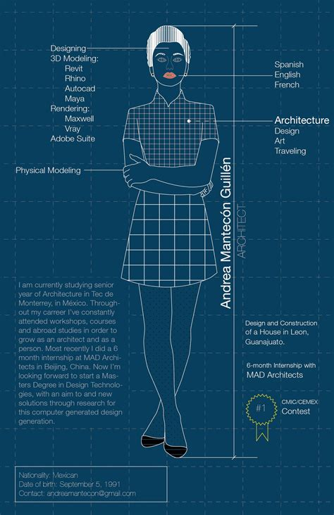 An infographic about myself. #architect #infographic #cv ...