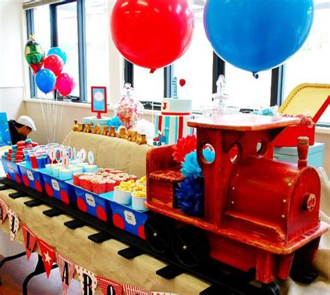 Kara's Party Ideas Train Boy Themed Birthday Party