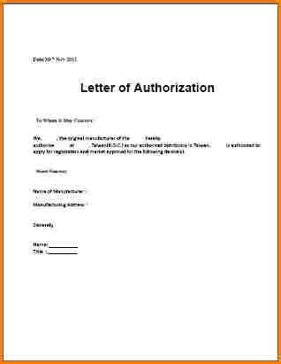 authorization letter template loa notarized  word