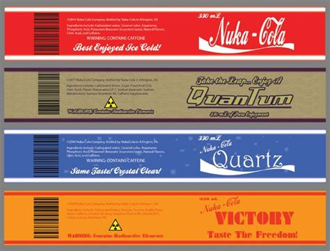 Nuka Cola Quantum Label by Nuka Cola Jpg 579 215 441 Bottle Labels Swaggy