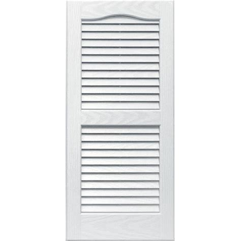 shop vantage 2 pack white louvered vinyl exterior shutters common 14 in x 31 in actual 13
