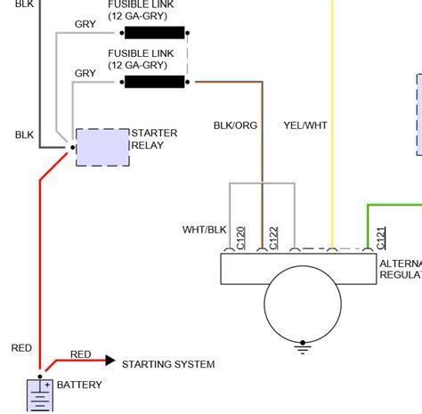Ford Explorer Alternator Diagram Where Does The