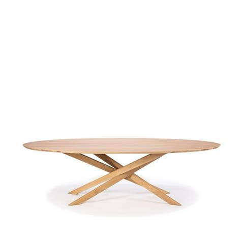 There are even a few pieces with extendable features! Oak Mikado coffee table - oval - Ethnicraft   coffee & side tables in 2019   Table, Round dining ...