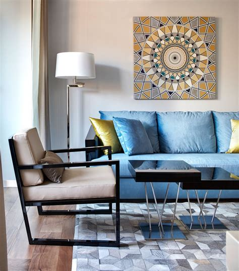 Decorating With A Blue Sofa by Cozy Moscow Flat Blends Plush D 233 Cor With Contemporary Panache