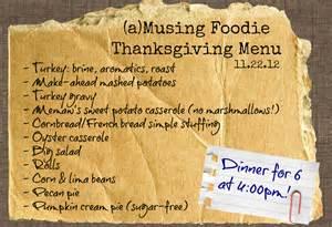 thanksgiving menu ideas thanksgiving