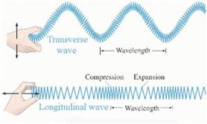 6 Illustration Of A Transverse Wave And A Longitudinal Wave