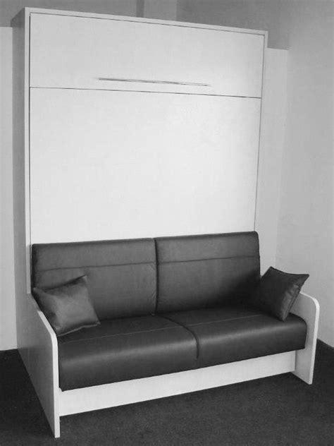 lit escamotable canapé space sofa armoire lit escamotable 160cm canapé intégré