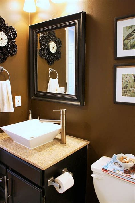 chocolate brown bathroom ideas think i m going for chocolate walls in my bathroom
