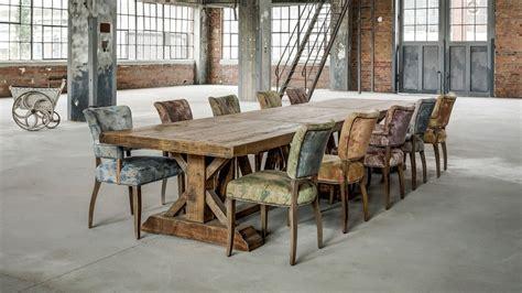 chaises cuisine blanches grande table de ferme table de ferme ancienne table en