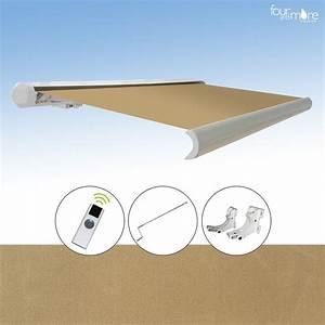 vollkassette markise farbe sand 25 x 2m funkfernbedienung With markise balkon mit tapete sand
