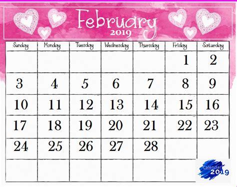 February 2019 Calendar | Latest Calendar