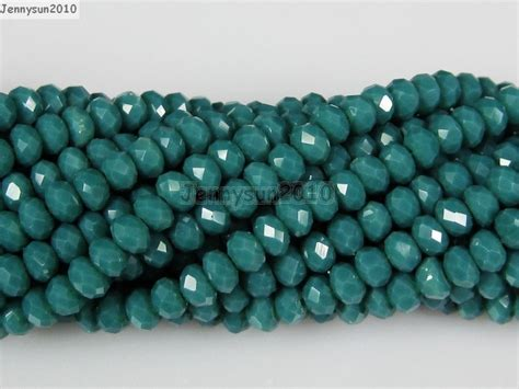 czech crystal mm  mm faceted rondelle loose beads
