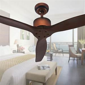 Wood blades ceiling fans without light three