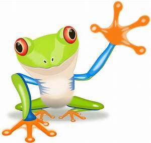 Waving Frog Clip Art at Clker.com - vector clip art online ...