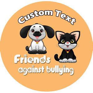personalised school stickers friends  bullying