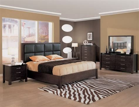 stylish and relaxing bedroom colors with black furniture