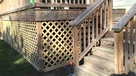 How To Build A Lattice How To Build A Lattice Around The Deck