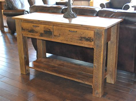 teton  drawer sofa table rustic furniture mall