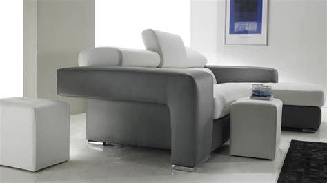 canapé d 39 angle en cuir noir et blanc pas cher canapé