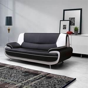 canape simili cuir noir et blanc conforama canape With canape cuir noir et blanc conforama